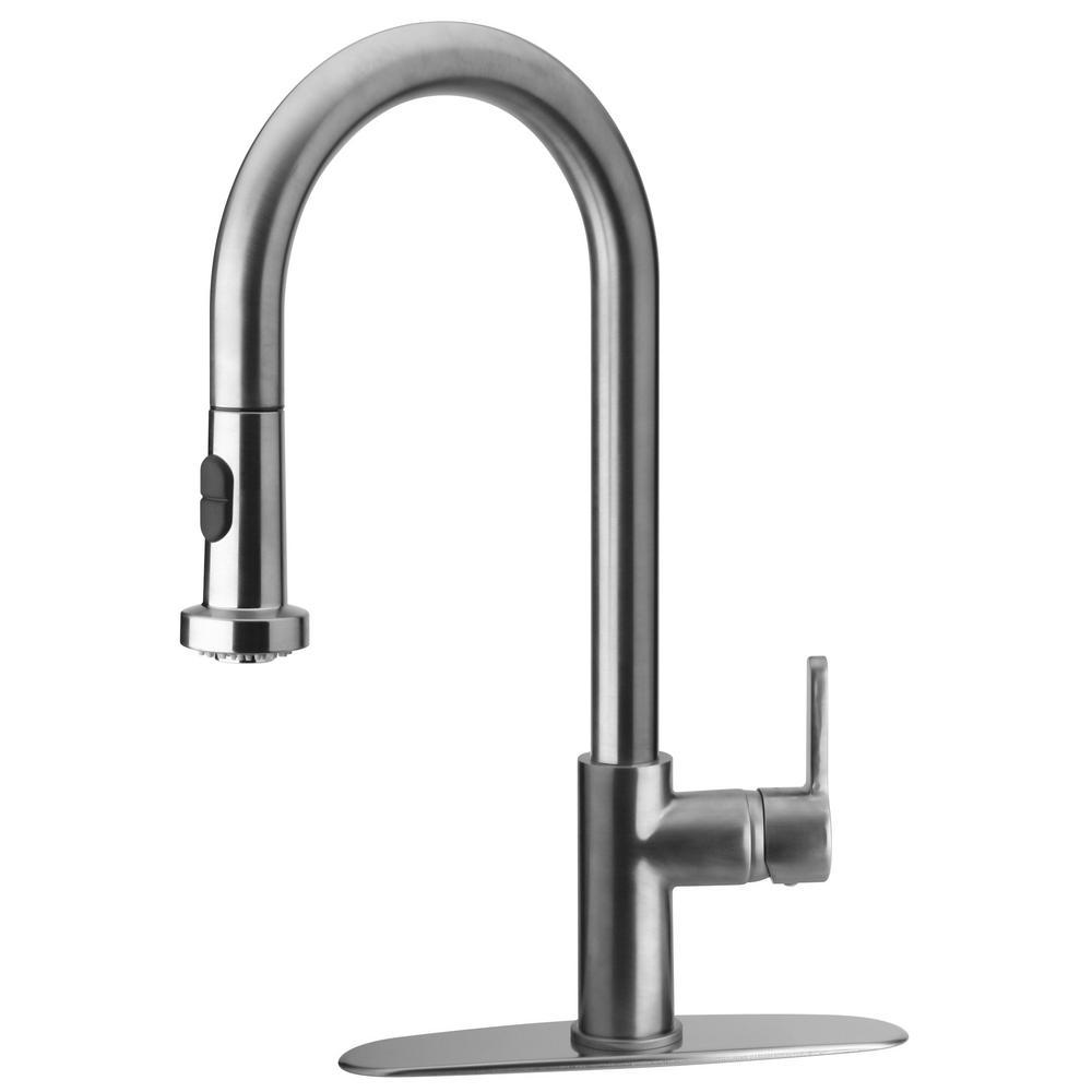 LaToscana Novello Single-Handle Pull-Down Sprayer Kitchen Faucet in Chrome