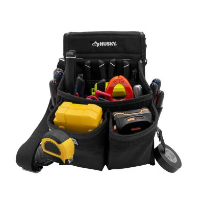 14-Pocket Black Electrician Tool Pouch