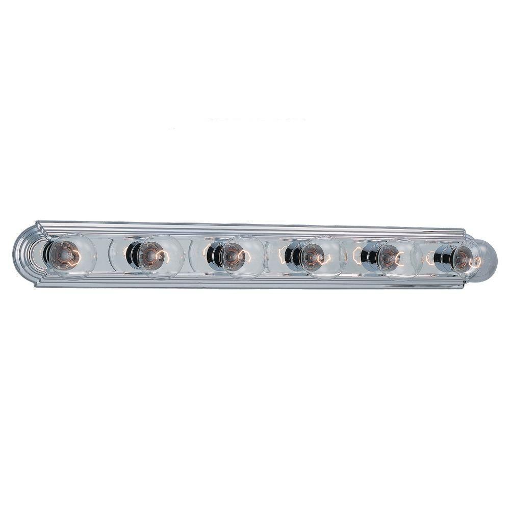 De-Lovely 6-Light Chrome Vanity Bar Light