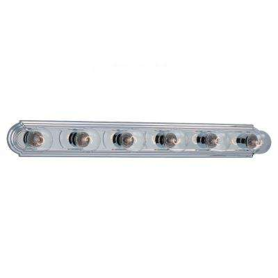 De-Lovely 6-Light Chrome Vanity Bar Light