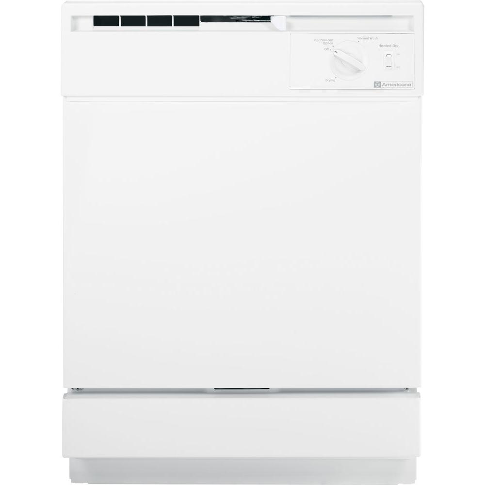 Americana Front Control Dishwasher in White