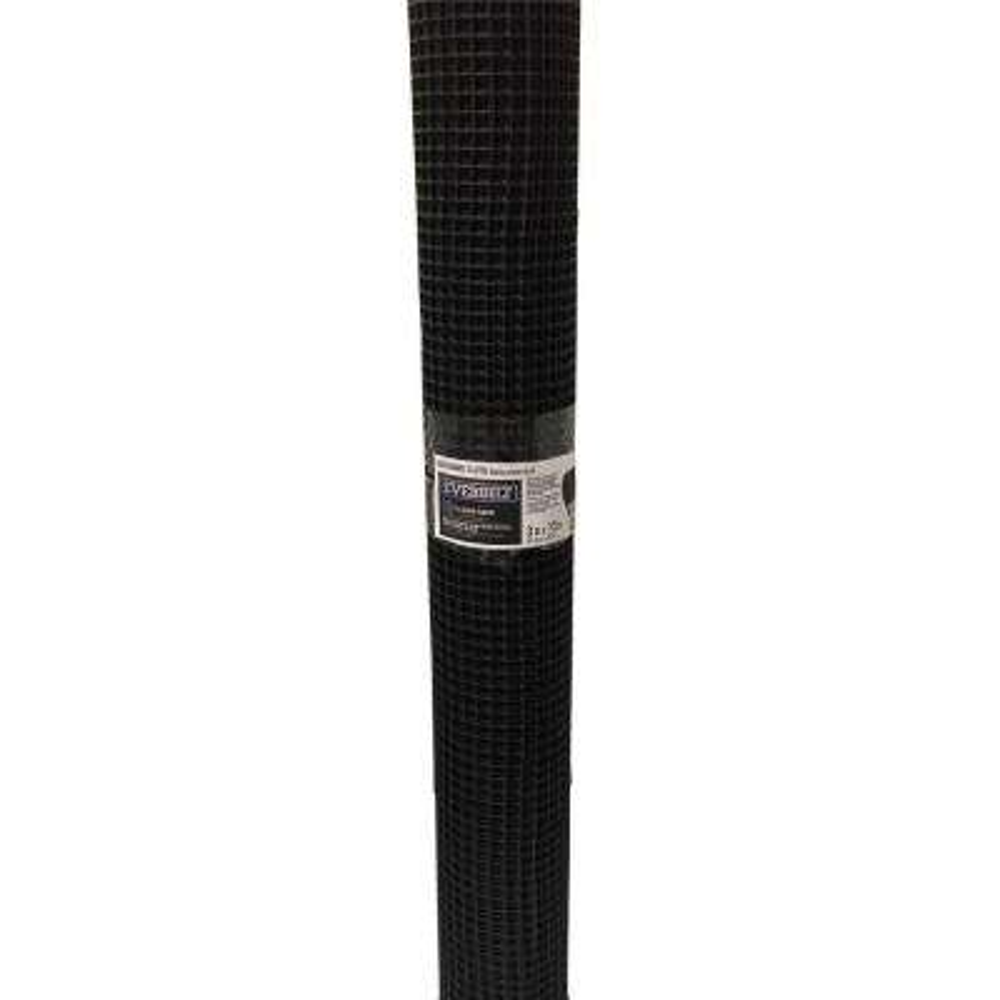 1/2 in. x 3 ft. x 15 ft. Black PVC Hardware Net