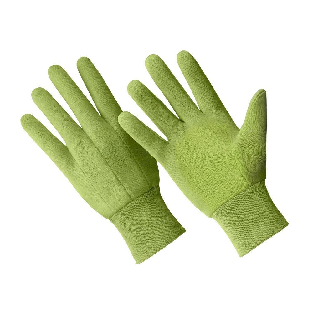 Ladies Small/Medium Green 100% Cotton Jersey Gloves