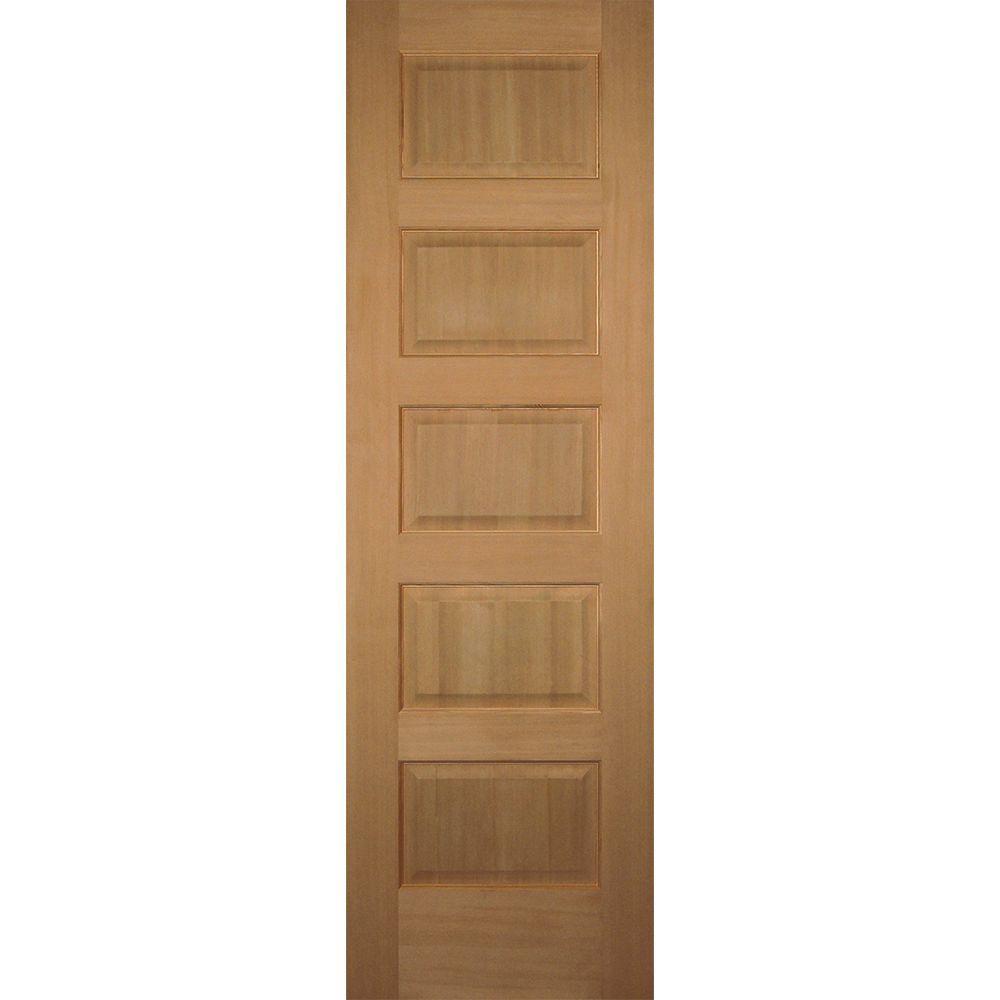 Builders choice 24 in x 80 in 5 panel solid core hemlock single prehung interior door for Solid core interior doors for sale
