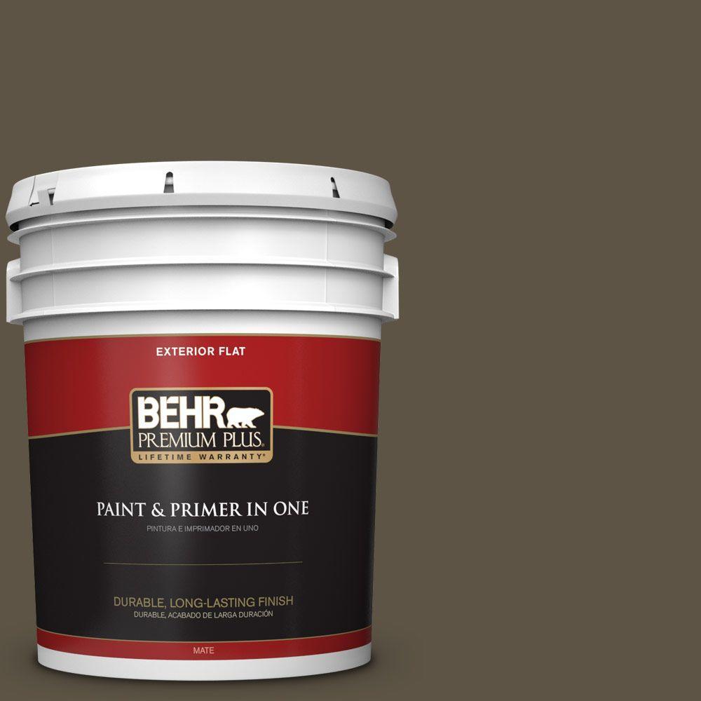 BEHR Premium Plus 5-gal. #770D-7 Wanderer Flat Exterior Paint