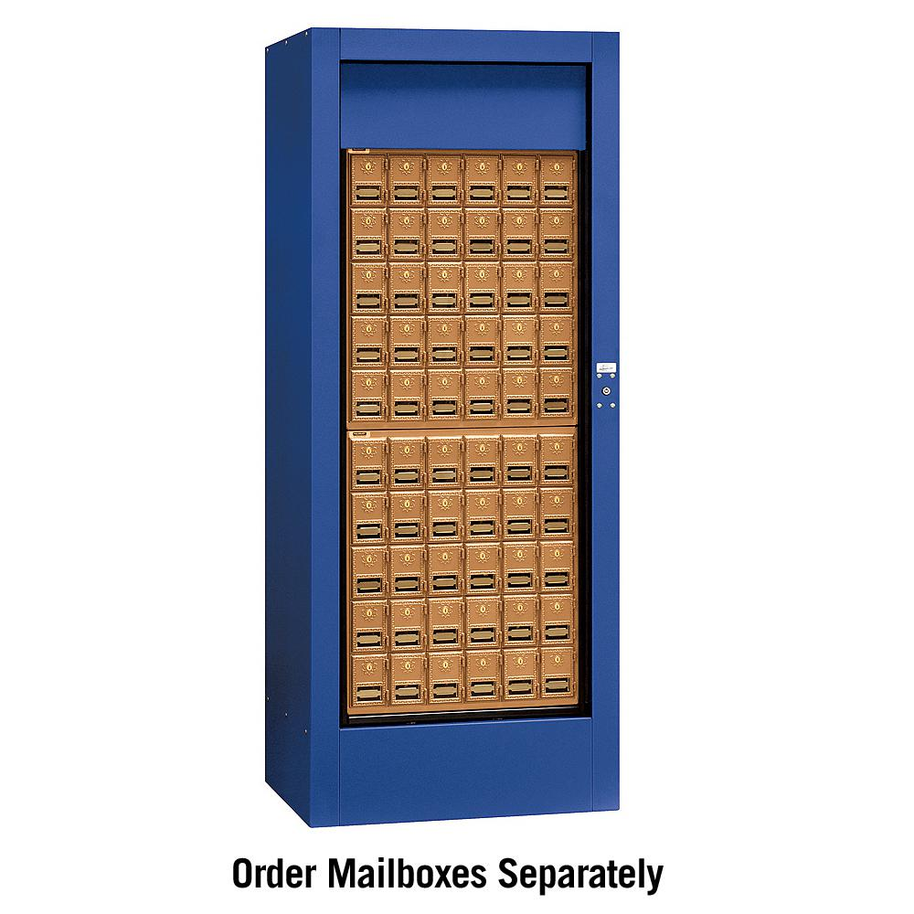 Salsbury Industries Private Brass Style Rotary Mail Center in Blue