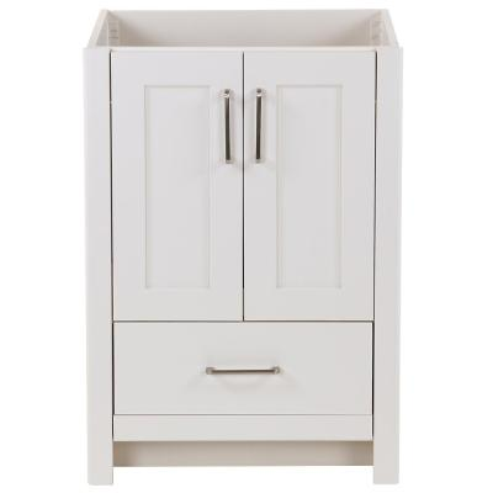 Westcourt 24 in. W x 22 in. D x 34 in. H Bath Vanity Cabinet Only in Cream