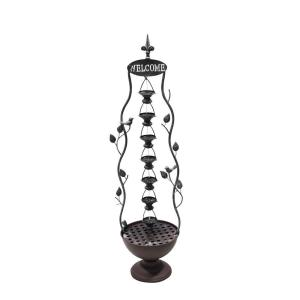 Click here to buy Alpine 41 inch 7 Hanging Cup Tier Layered Floor Fountain by Alpine.