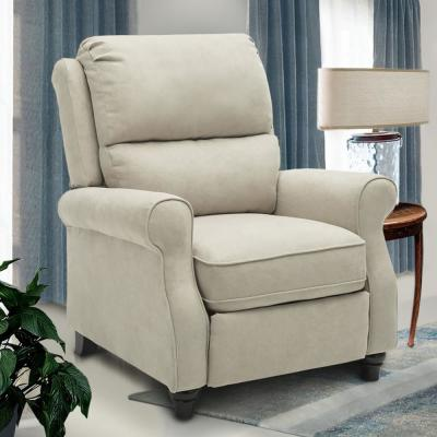 Buff Recliner Chair,Modern reclining Sofa with Roll Arm Pushback Manual Recliner Heavy Duty