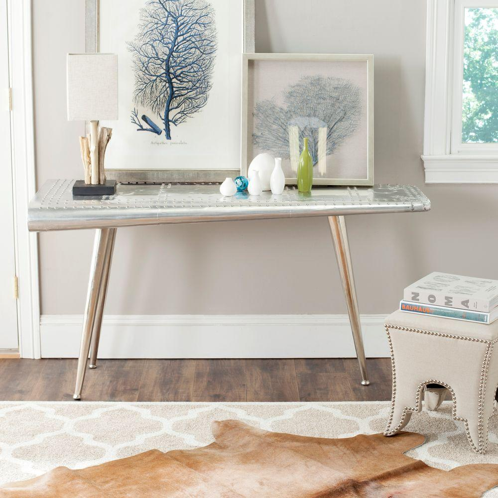 Safavieh Aviator Silver Console Table