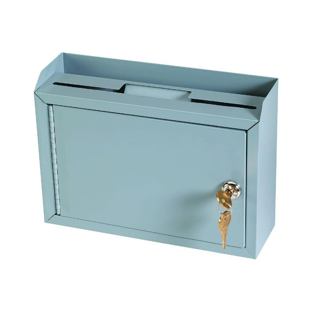 MMF Cash Drawer Multi-Purpose Drop Box Safe, Gray