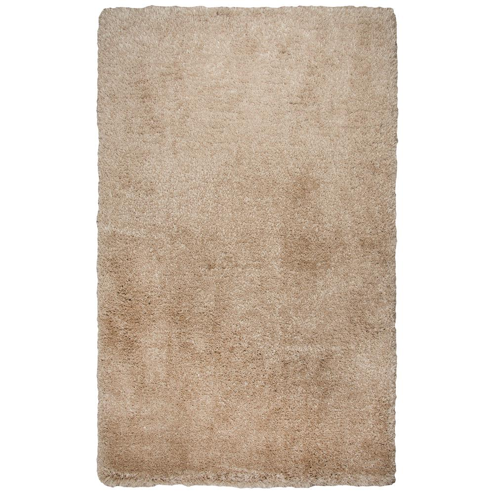 Commons Champagne Polyester Shag 8 ft. x 10 ft. Area Rug