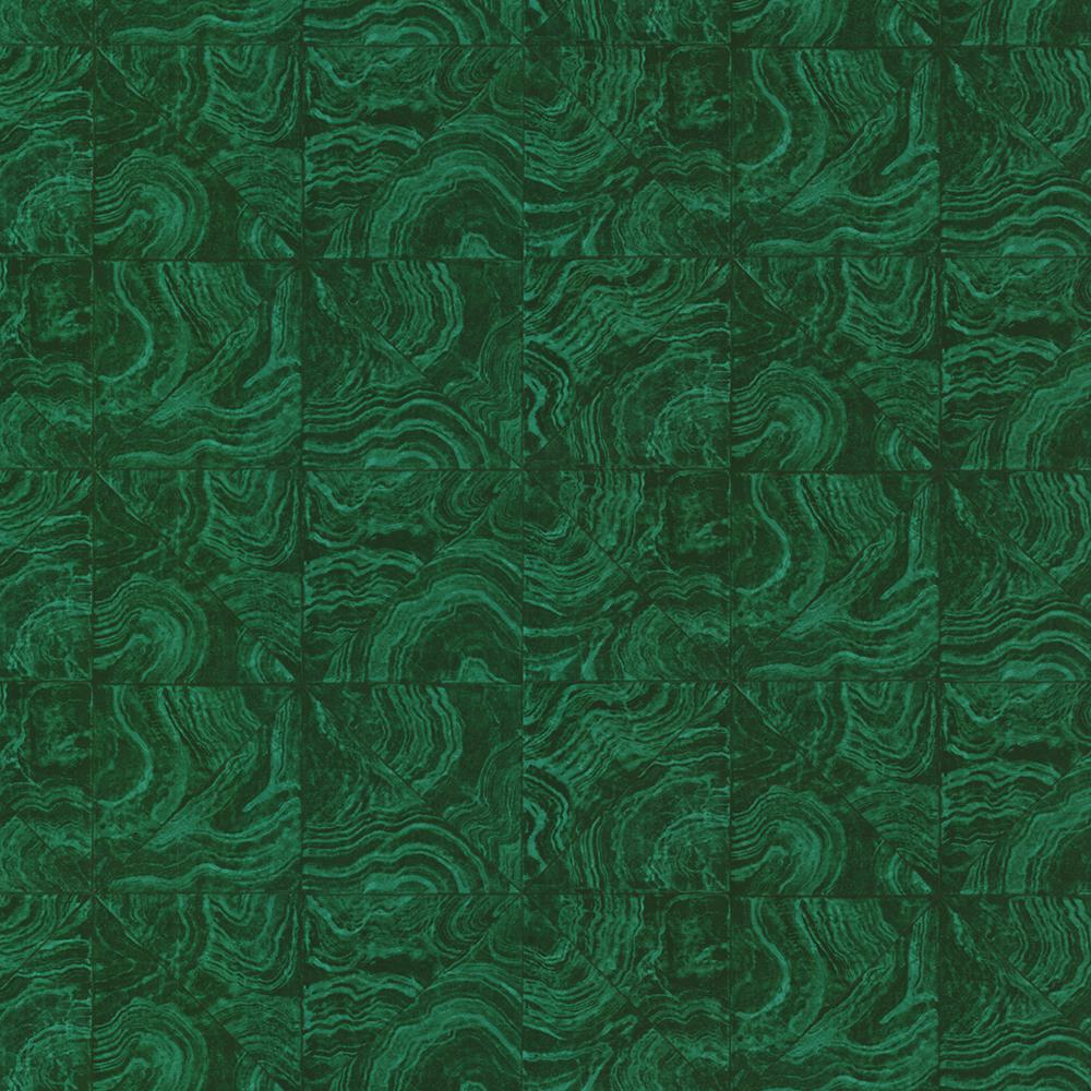 Brewster Green Malachite Stone Tile Wallpaper Hzn43102