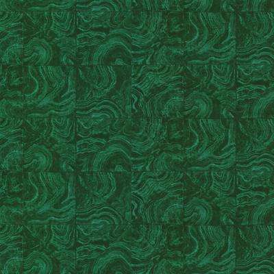 Green Malachite Stone Tile Wallpaper Sample