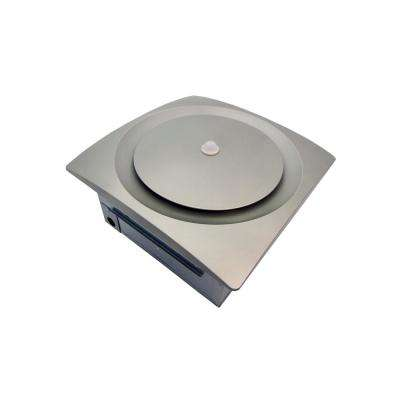 Continuous Run 30-80-140 CFM Ceiling/Wall Mount Bathroom Exhaust Fan w/Humidity & Motion Sensor Satin Nickel ENERGY STAR