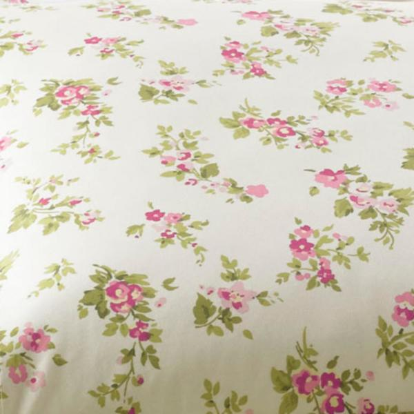 Laura Ashley Audrey 4 Piece Pink Floral Flannel Full Sheet Set 201591 The Home Depot