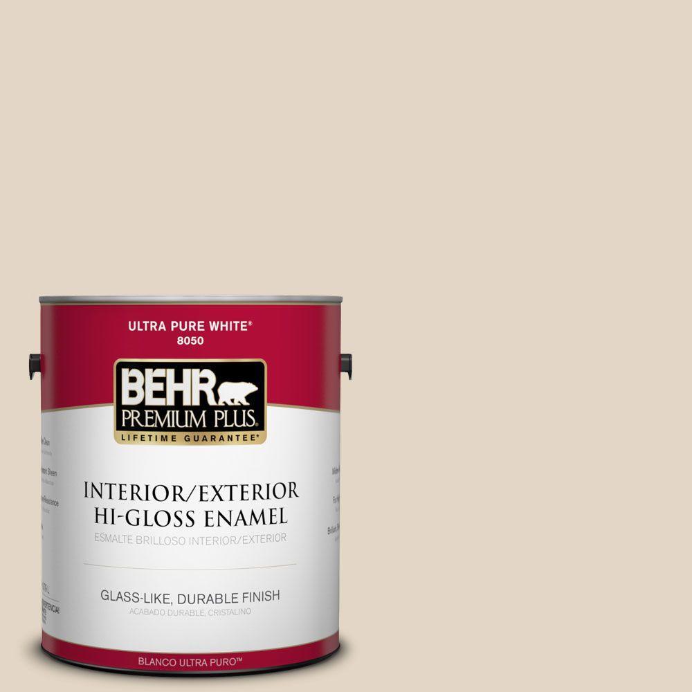 1-gal. #N270-1 High Style Beige Hi-Gloss Enamel Interior/Exterior Paint