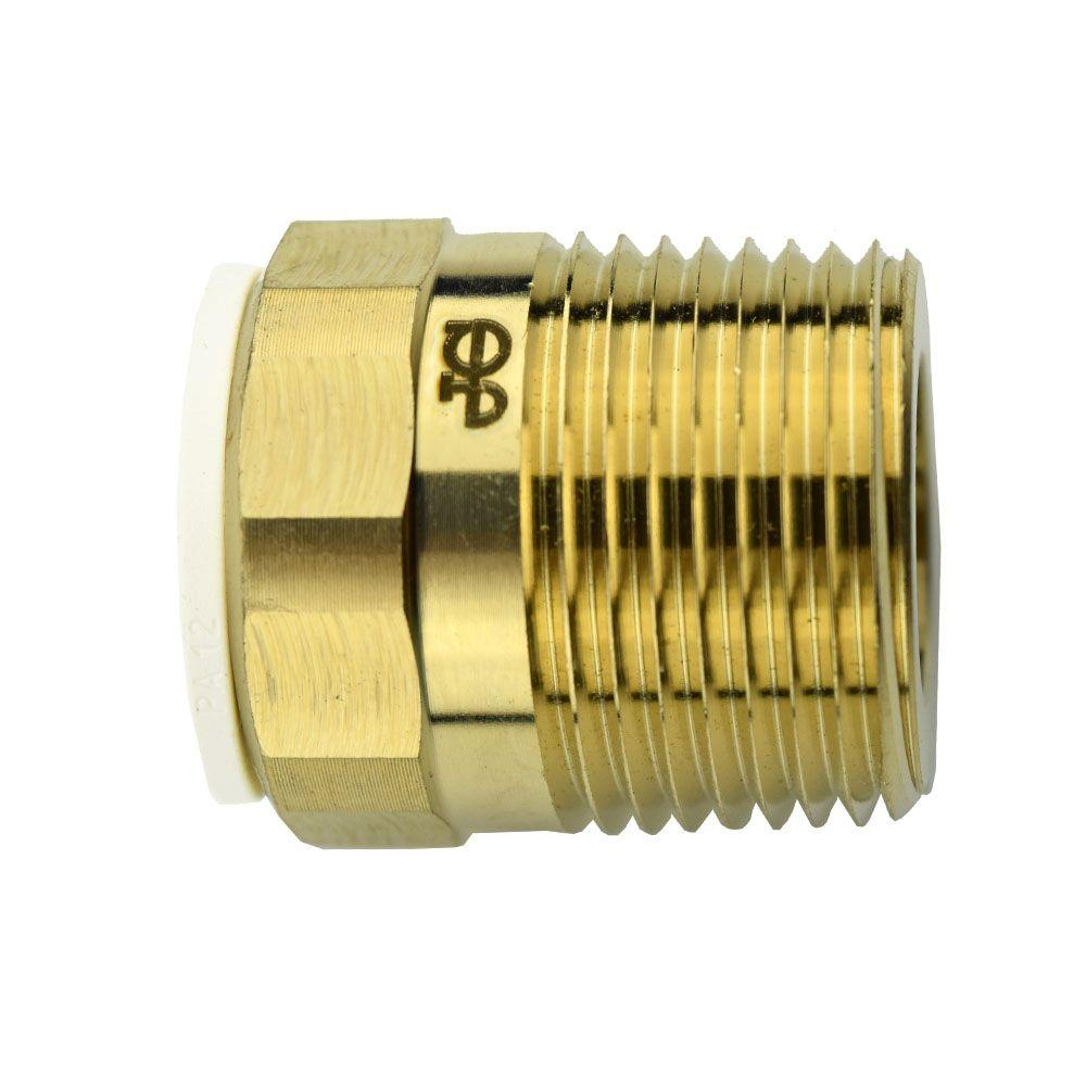 1/2 in. x 3/4 in. Brass Push-to-Connect Male Connector Contractor Pack