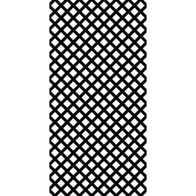 4 ft. x 8 ft. Black Traditional Vinyl Lattice (2-Pack)