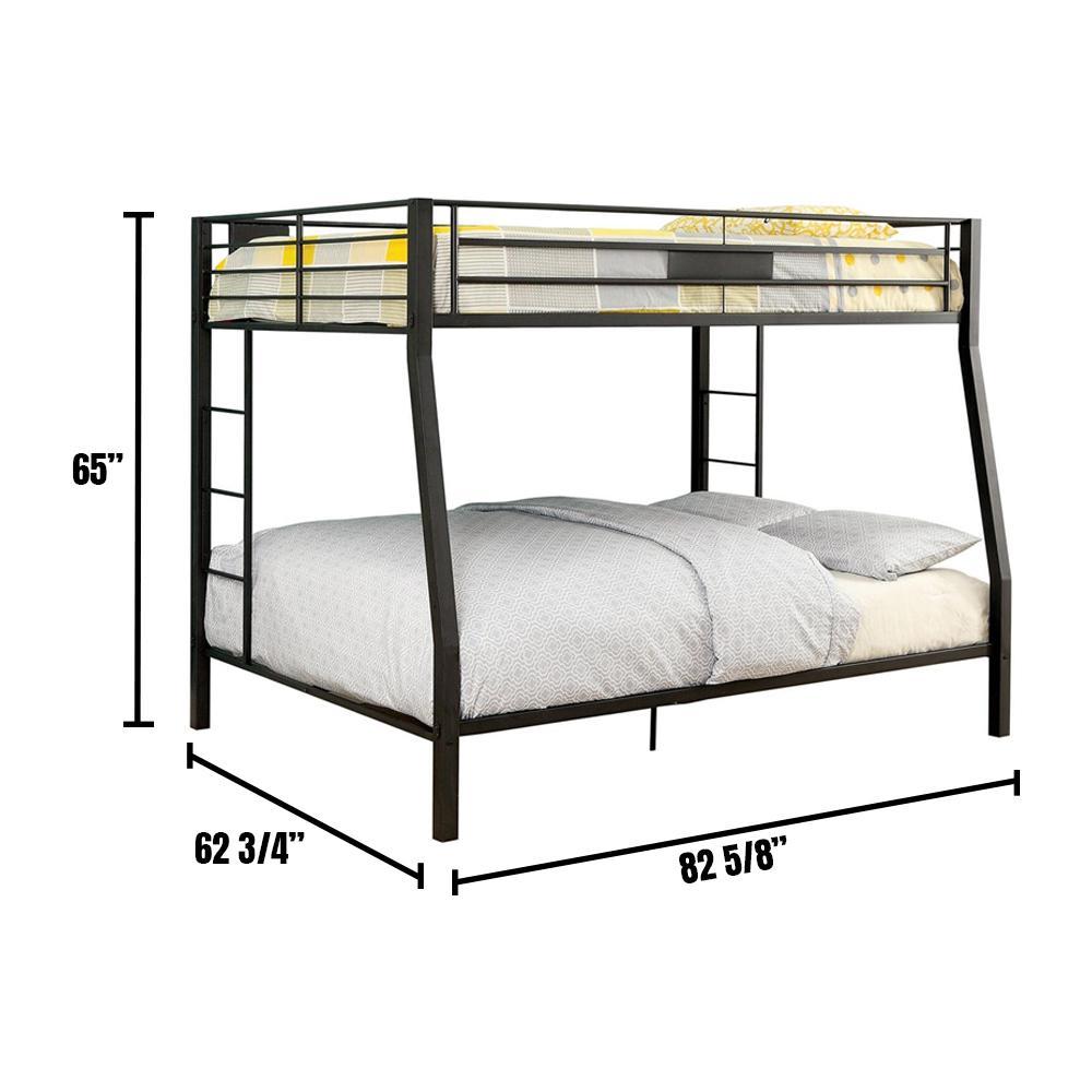 Claren Black Full/Queen Size Bunk Bed