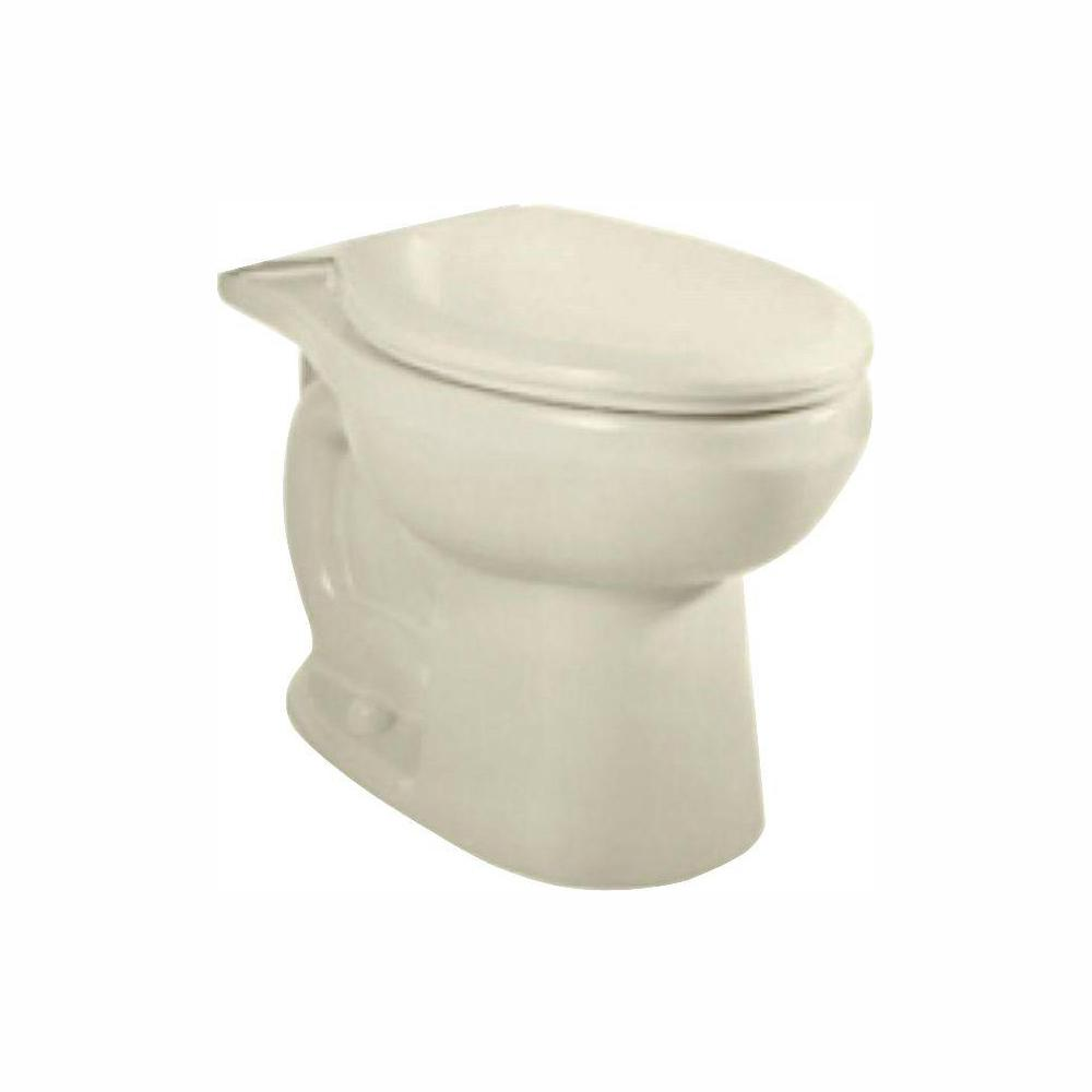 American Standard H2Option Siphonic Chair Height 1.6 GPF or 1.0 GPF Dual Flush Elongated Toilet Bowl Only in Linen