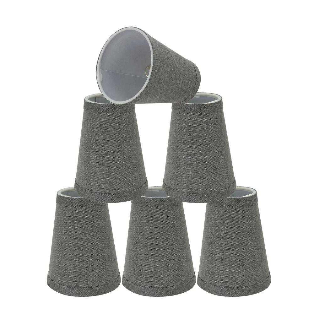 4 in. x 5 in. Grey Hardback Empire Lamp Shade (6-Pack)