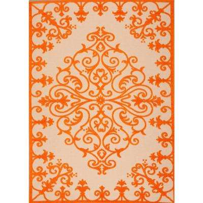 Aloha Orange 5 ft. x 7 ft. Indoor/Outdoor Area Rug
