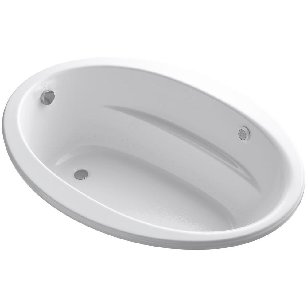 KOHLER Sunward 5 ft. Air Bath Tub in White-K-1162-S1G-0 - The Home ...