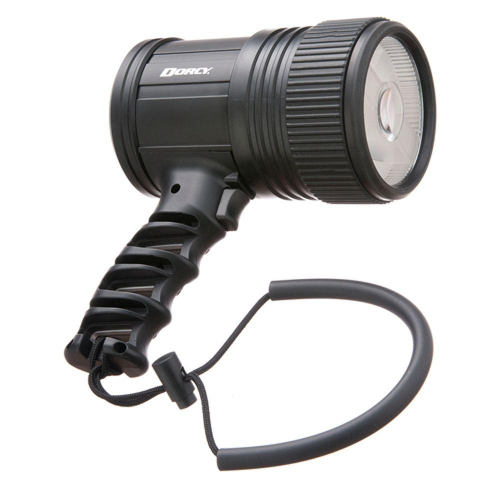 Battery Powered Pistol Grip LED Spotlight in Black
