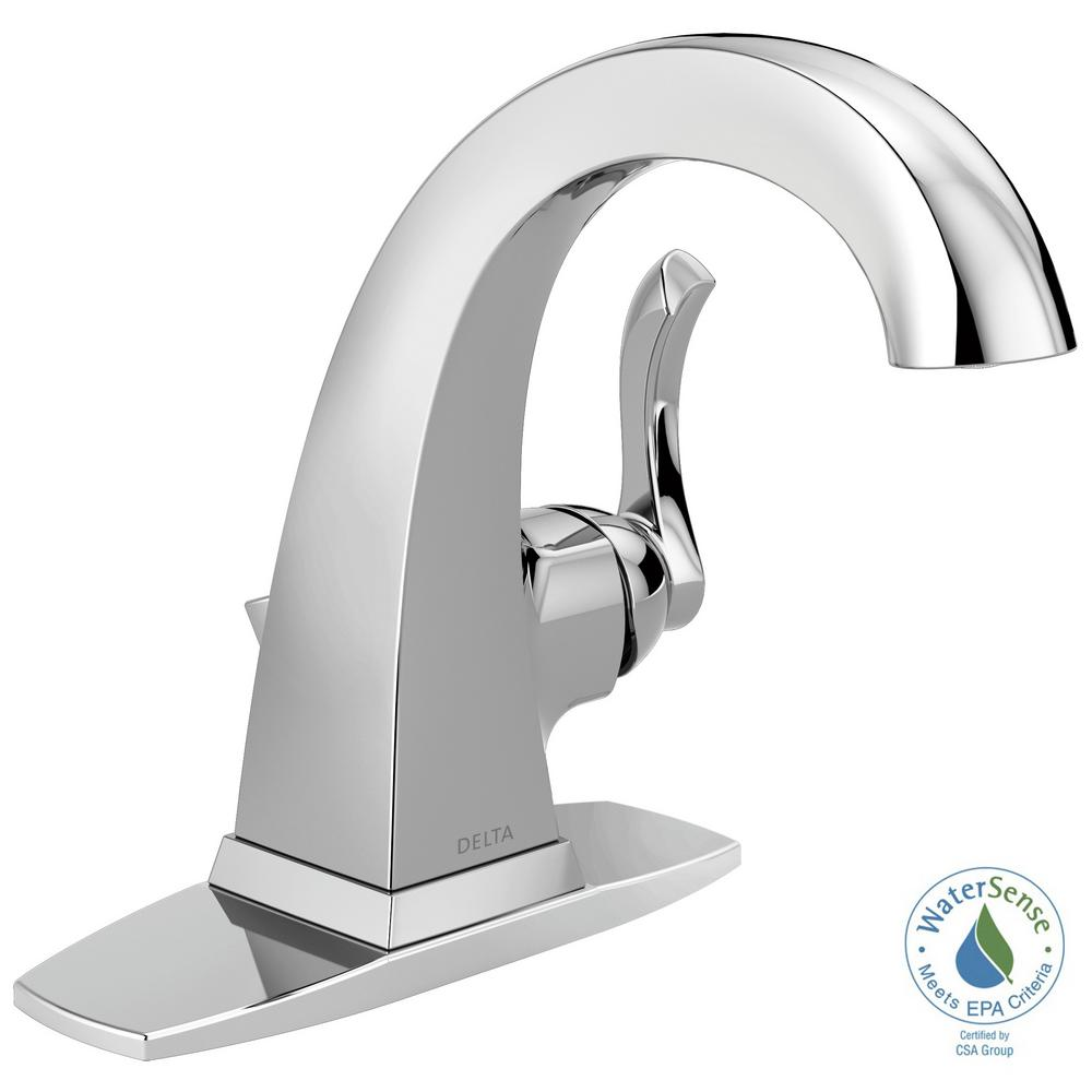 Delta Everly 4 in. Centerset Single-Handle Bathroom Faucet in Chrome ...