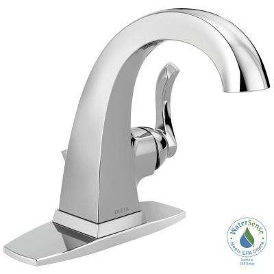 Everly 4 in. Centerset Single-Handle Bathroom Faucet in Chrome