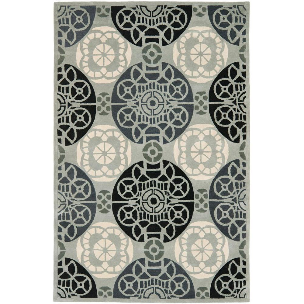 Capri Grey/Black 6 ft. x 9 ft. Area Rug