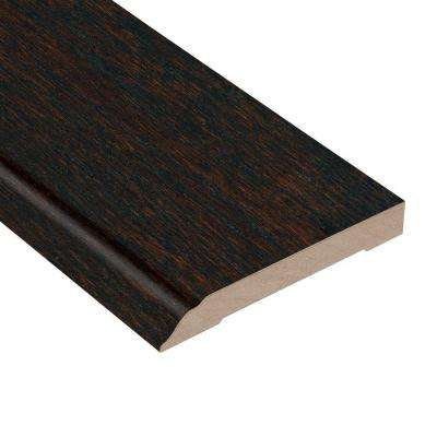 Oak Coffee 1/2 in. Thick x 3-1/2 in. Wide x 94 in. Length Hardwood Wall Base Molding
