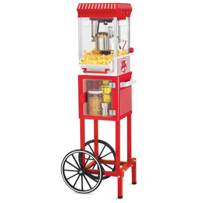Vintage Collection 2.5 oz. Red Oil Popcorn Machine with Cart