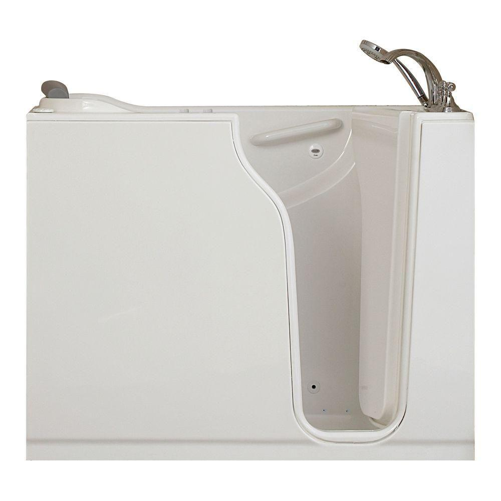 American Standard Gelcoat Standard Series 52 in. x 30 in. Walk-In Whirlpool and Air Bath Tub with Quick Drain in White