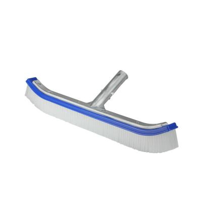 18 in. Blue Standard Curve Nylon Bristle Wall Brush with Aluminum Support