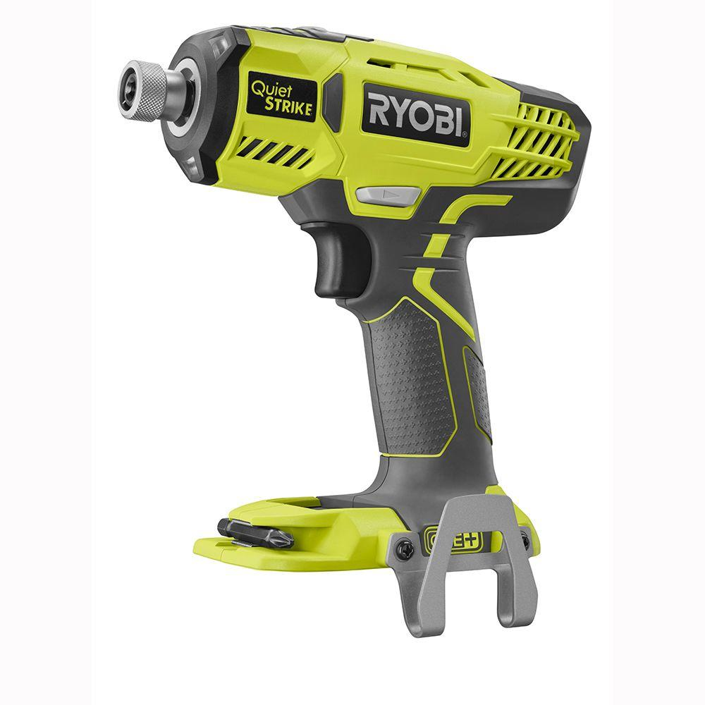 RYOBI 18-Volt ONE+ Cordless 1/4 in. Hex QuietSTRIKE Pulse Driver (Tool-Only) with Belt Clip