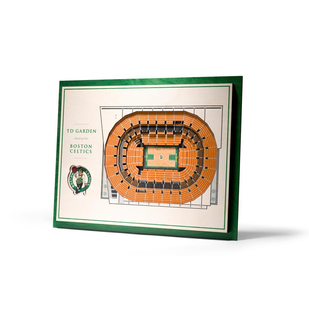 NHL Vegas Golden Knights 5-Layer Stadiumviews 3D Wooden Wall Art