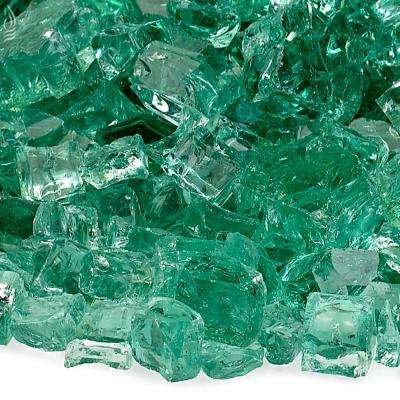 1/2 in. Evergreen Fire Glass 10 lbs. Bag