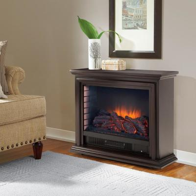 Sheridan 32 in. Freestanding Mobile Infrared Fireplace in Espresso