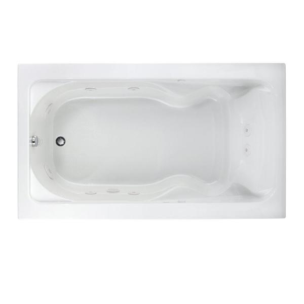 American Standard Everclean Cadet 72 In X 42 In Reversible Drain Whirlpool Tub In White 2774lc 020 The Home Depot
