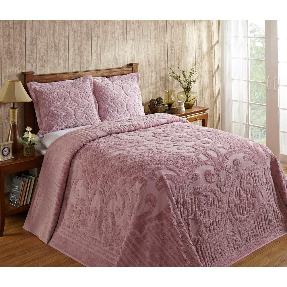 Better Trends Ashton 1-Piece Pink Twin Bedspread