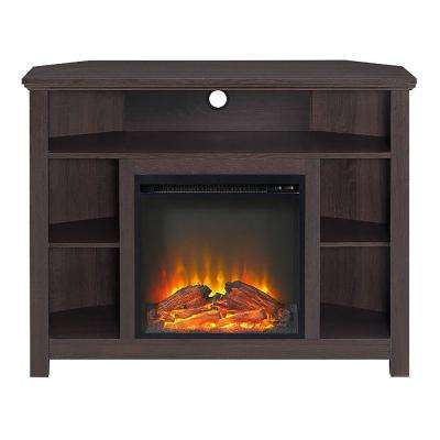 Highboy Espresso Fire Place Entertainment Center