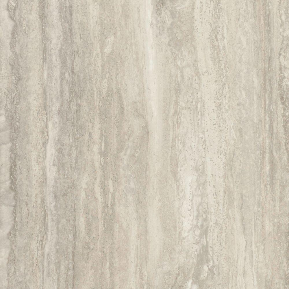 FORMICA 4 ft. x 8 ft. Laminate Sheet in 180fx Travertine Silver with Scovato Finish
