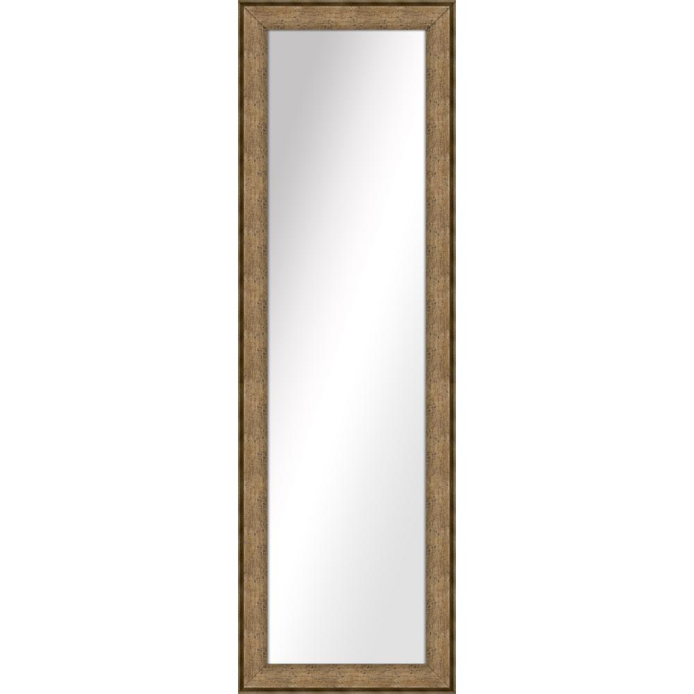 52.5 in. x 16.5 in. Dark Champagne Framed Mirror