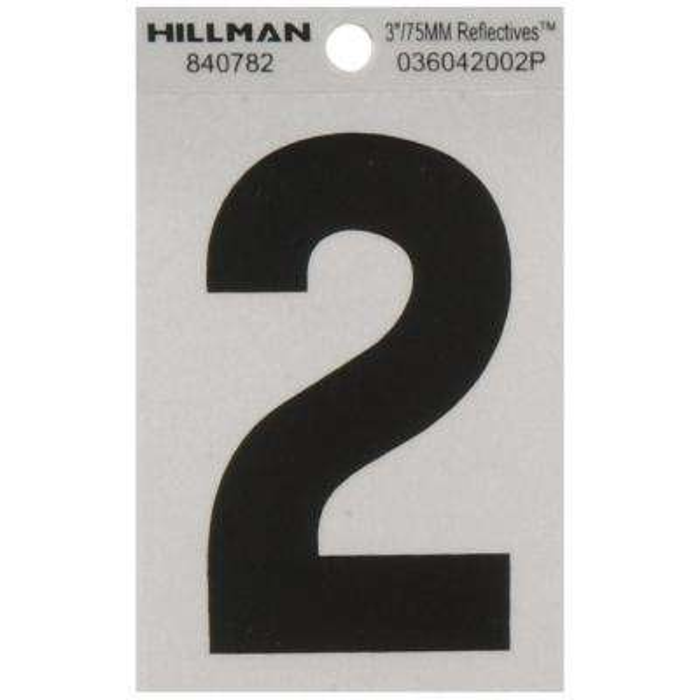 3 in. Vinyl Reflective Number 2