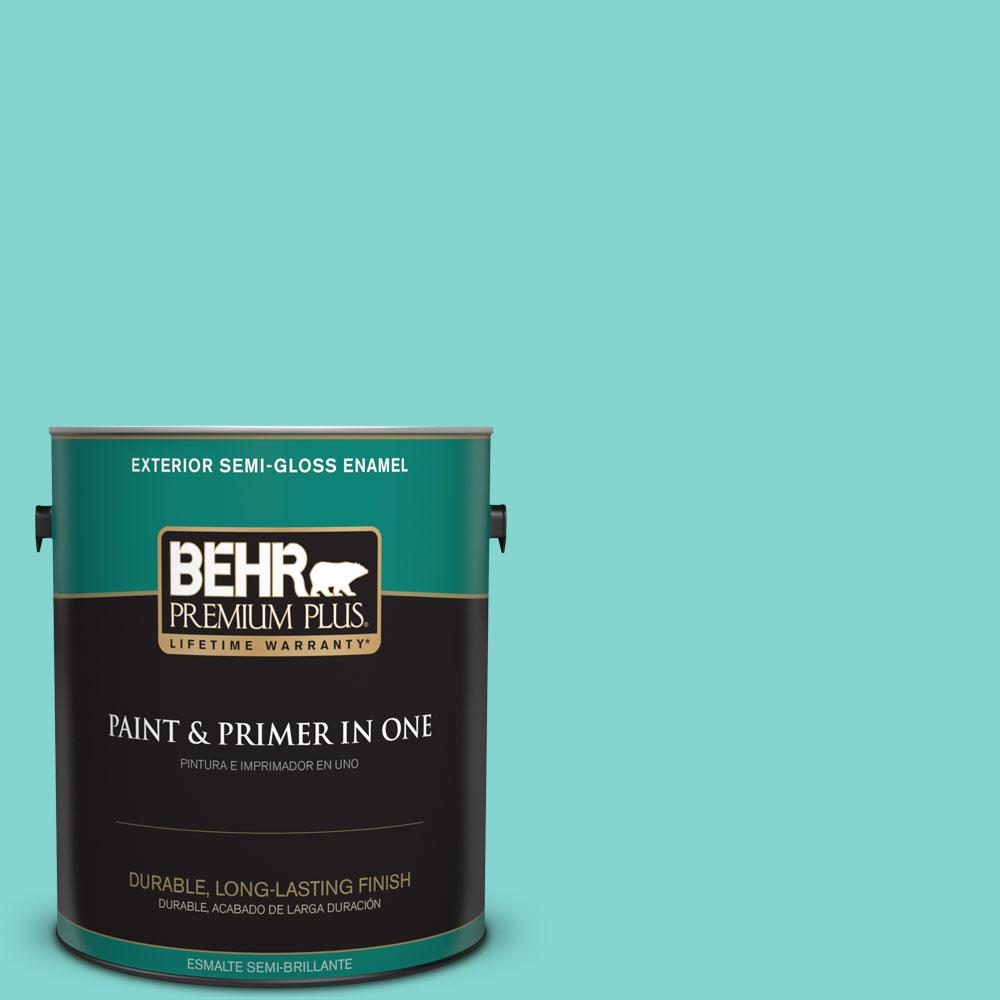 BEHR Premium Plus Home Decorators Collection 1-gal. #HDC-MD-11 Exclusive Ivory Semi-Gloss Enamel Exterior Paint