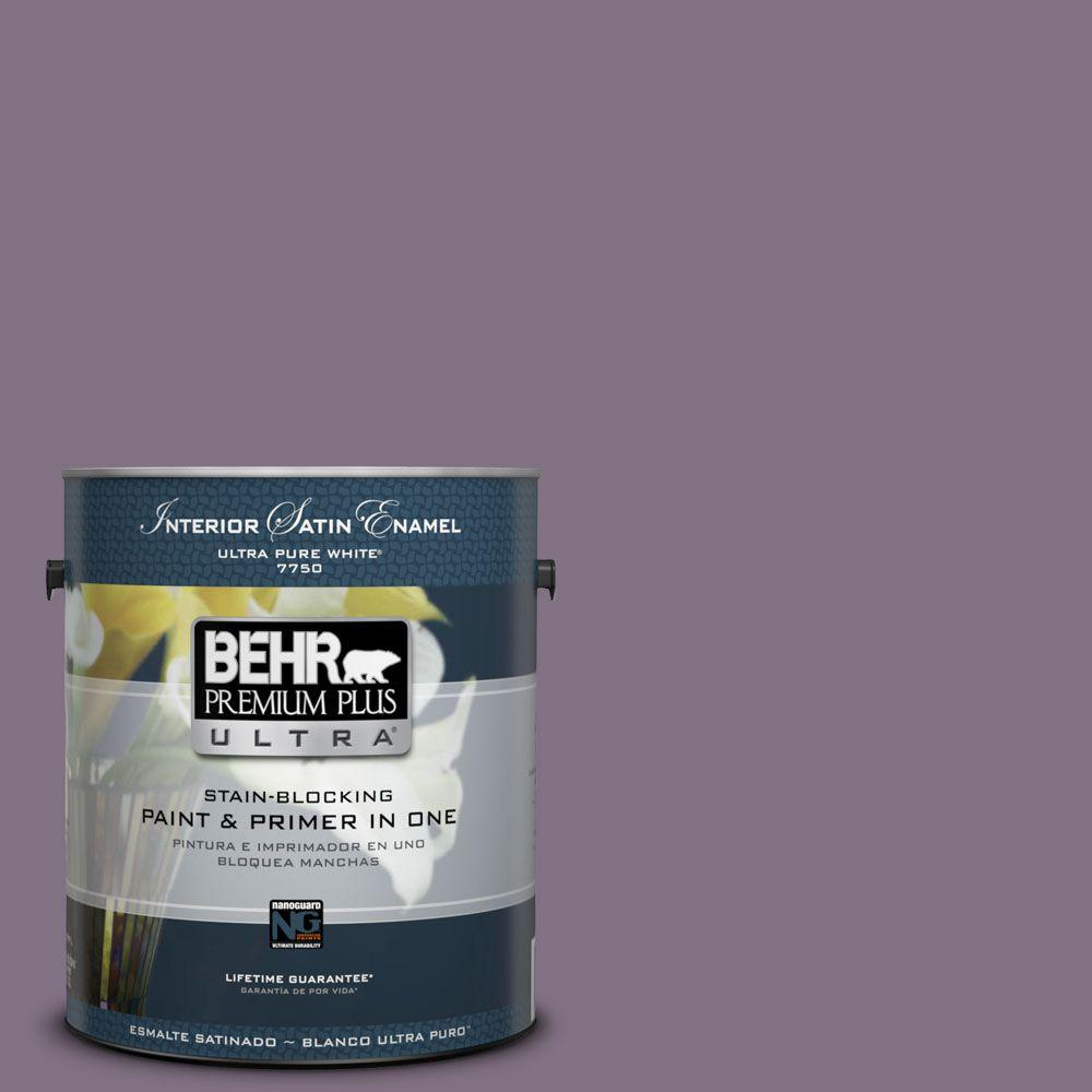 BEHR Premium Plus Ultra 1-gal. #HDC-SP14-9 Decorative Iris Satin Enamel Interior Paint