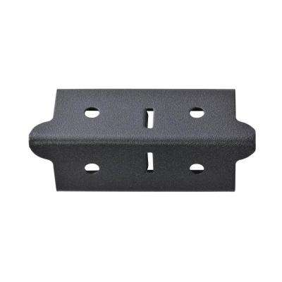 4 in. H x 1.375 in. W x 1.375 in. D Steel Post Coupling Outer Black (4 Pack)