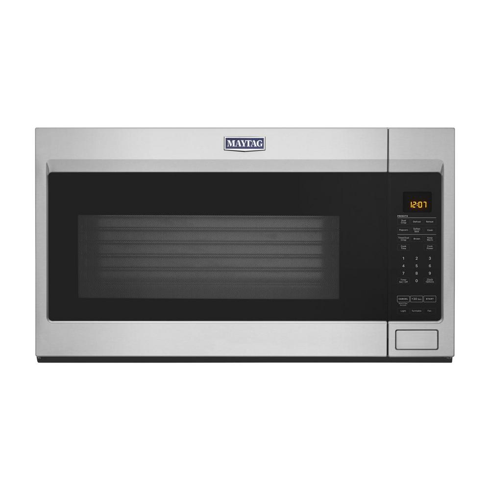 Maytag Maytag 1.9 cu. ft. Over the Range Microwave with Dual Crisp Function in Fingerprint Resistant Stainless Steel